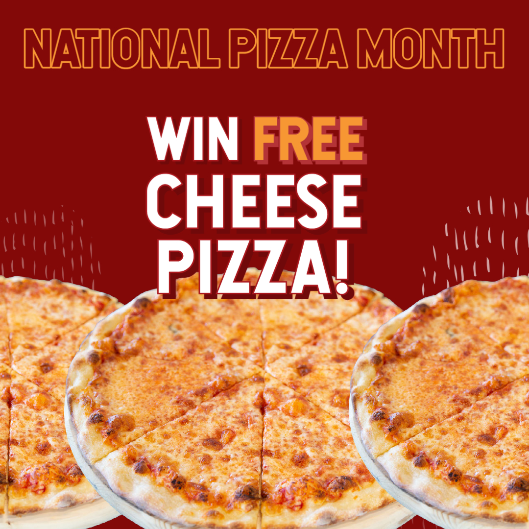 win free cheese pizza for a month